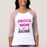 Mamá orgullosa de los soldados camisetas