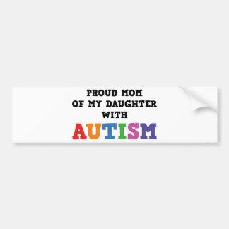 Mamá orgullosa de mi hija con autismo pegatina para auto