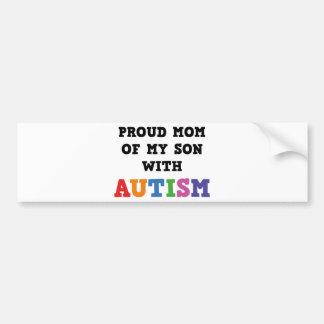 Mamá orgullosa de mi hijo con autismo pegatina para auto