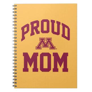 Mamá orgullosa de Minnesota Spiral Notebook