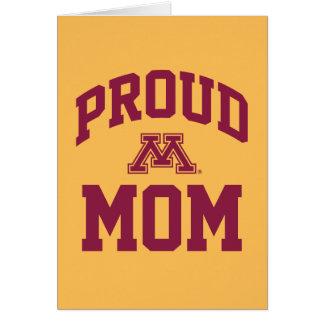 Mamá orgullosa de Minnesota Tarjeta Pequeña