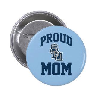 Mamá orgullosa de ODU Pin Redondo De 2 Pulgadas