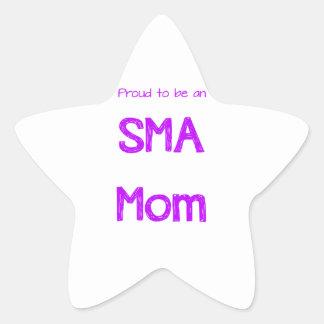 Mamá orgullosa de SMA Calcomania Forma De Estrella Personalizadas