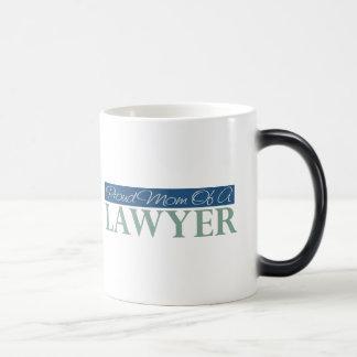 Mamá orgullosa de un abogado tazas de café