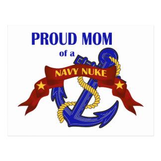 Mamá orgullosa de un arma nuclear de la marina de postal