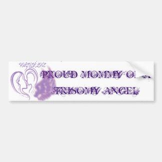 Mamá orgullosa de un chica del ángel del Trisomy Pegatina Para Auto