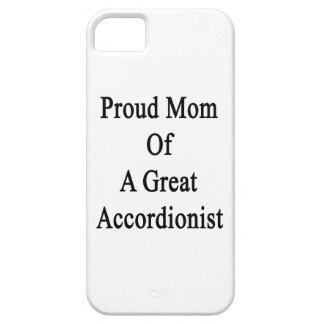 Mamá orgullosa de un gran acordeonista iPhone 5 carcasas