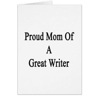 Mamá orgullosa de un gran escritor