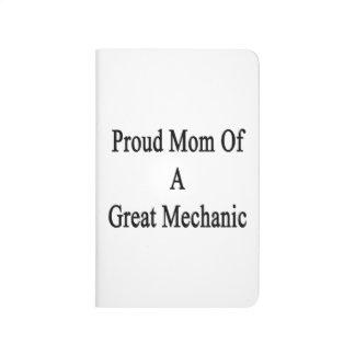 Mamá orgullosa de un gran mecánico cuaderno