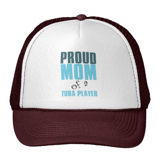 Mamá orgullosa de un jugador de la tuba gorras