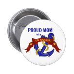 Mamá orgullosa de un marinero de los E.E.U.U. Pin