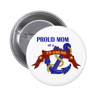 Mamá orgullosa de un marinero de los E E U U Pin