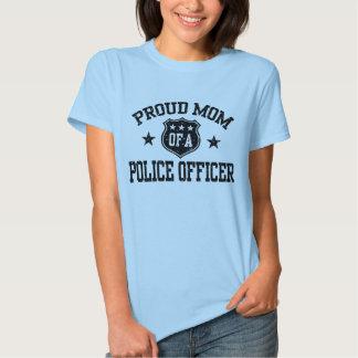 Mamá orgullosa de un oficial de policía playeras