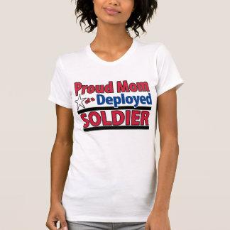 Mamá orgullosa de un soldado desplegado con nombre polera