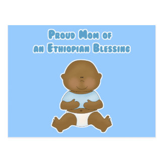 Mamá orgullosa de una bendición etíope tarjeta postal