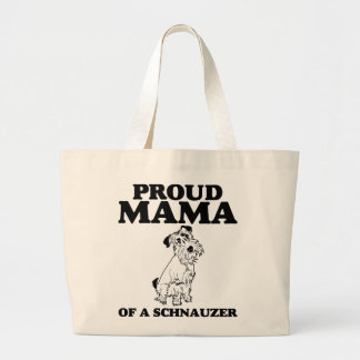 Mamá orgullosa de una bolsa de asas del Schnauzer