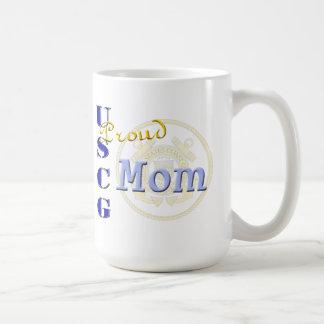 Mamá orgullosa de USCG Taza De Café