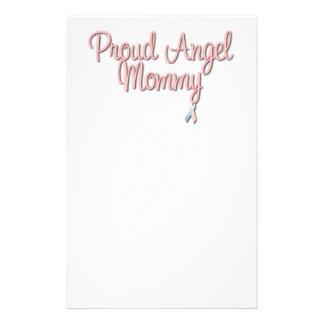 Mamá orgullosa del ángel inmóvil papelería personalizada