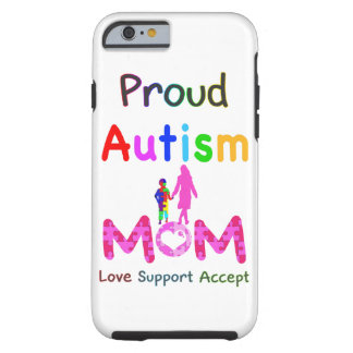 Mamá orgullosa del autismo funda resistente iPhone 6