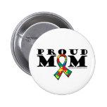 Mamá orgullosa del autismo pin redondo 5 cm