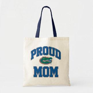 Mamá orgullosa del cocodrilo bolsa tela barata