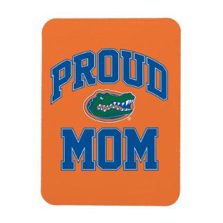 Mamá orgullosa del cocodrilo imanes rectangulares