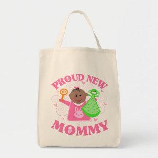 Mamá orgullosa del día de madre nueva de la hija - bolsa de mano