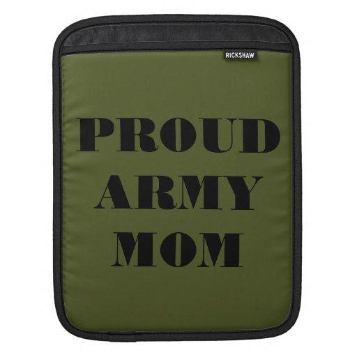 Mamá orgullosa del ejército de la manga de Ipad