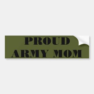Mamá orgullosa del ejército de la pegatina para el pegatina para auto