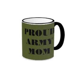 Mamá orgullosa del ejército de la taza
