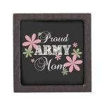 Mamá orgullosa del ejército [la Florida c] Cajas De Joyas De Calidad