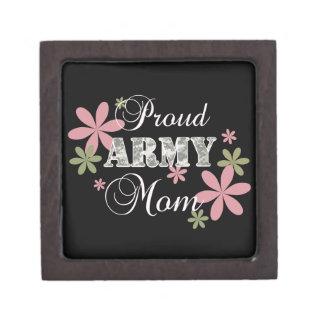Mamá orgullosa del ejército la Florida c Cajas De Joyas De Calidad