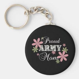 Mamá orgullosa del ejército [la Florida c] Llavero Redondo Tipo Pin