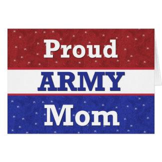 - Mamá orgullosa del ejército - pensamiento milita Tarjetón