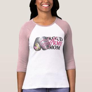 Mamá orgullosa del ejército camisetas