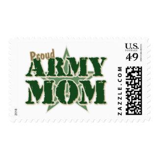 Mamá orgullosa del ejército sello postal