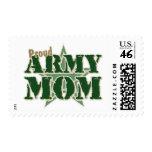 Mamá orgullosa del ejército sellos