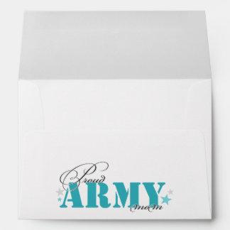 Mamá orgullosa del ejército sobres
