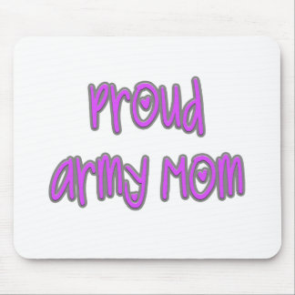 Mamá orgullosa del ejército tapetes de ratones