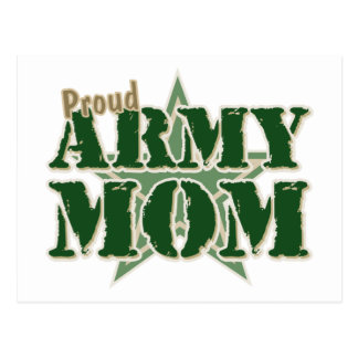 Mamá orgullosa del ejército tarjeta postal