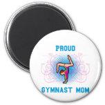 Mamá orgullosa del gimnasta imanes de nevera