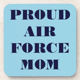 Mamá orgullosa determinada de la fuerza aérea del  posavaso