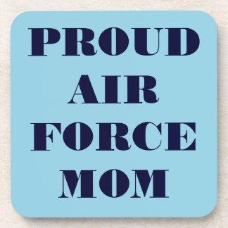 Mamá orgullosa determinada de la fuerza aérea del  posavasos