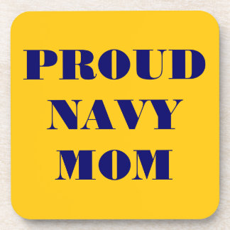 Mamá orgullosa determinada de la marina de guerra  posavaso