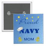 Mamá orgullosa Pinback de la marina de guerra