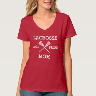 Mamá orgullosa ruidosa de LaCrosse Playera