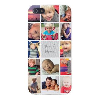 Mamá orgullosa su collage de las fotos de iPhone 5 carcasas