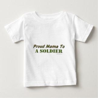 Mamá orgullosa To A Soldier Playera Para Bebé