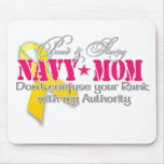 Mamá orgullosa y fuerte de la marina de guerra alfombrilla de ratones