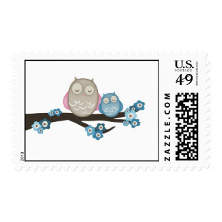 Mama Owl & Baby {Blue} | Stamps